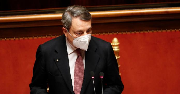 Mario Draghi al Senato