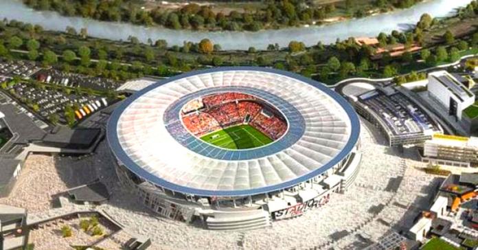 Simulazione Stadio della Roma