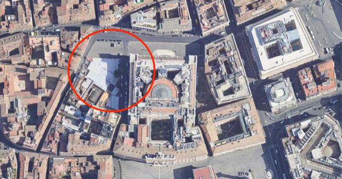 Inquadramento dell'area parcheggio (Google Maps)